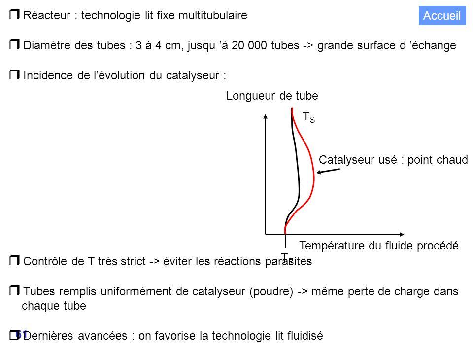  Réacteur : technologie lit fixe multitubulaire