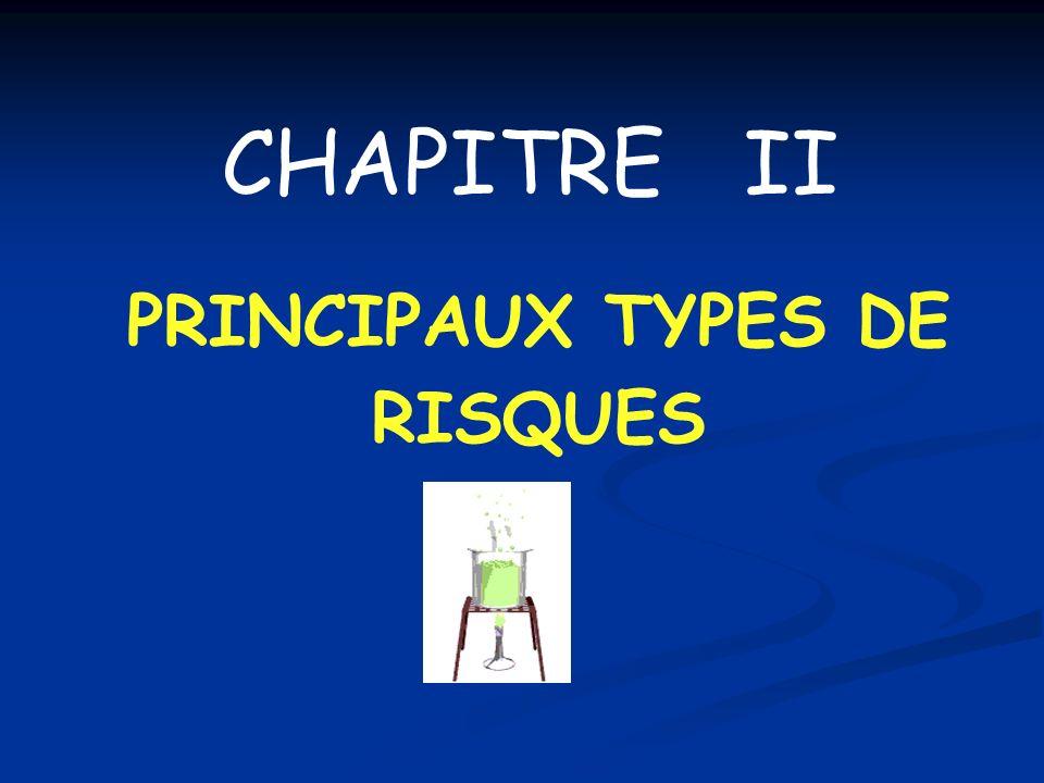 PRINCIPAUX TYPES DE RISQUES