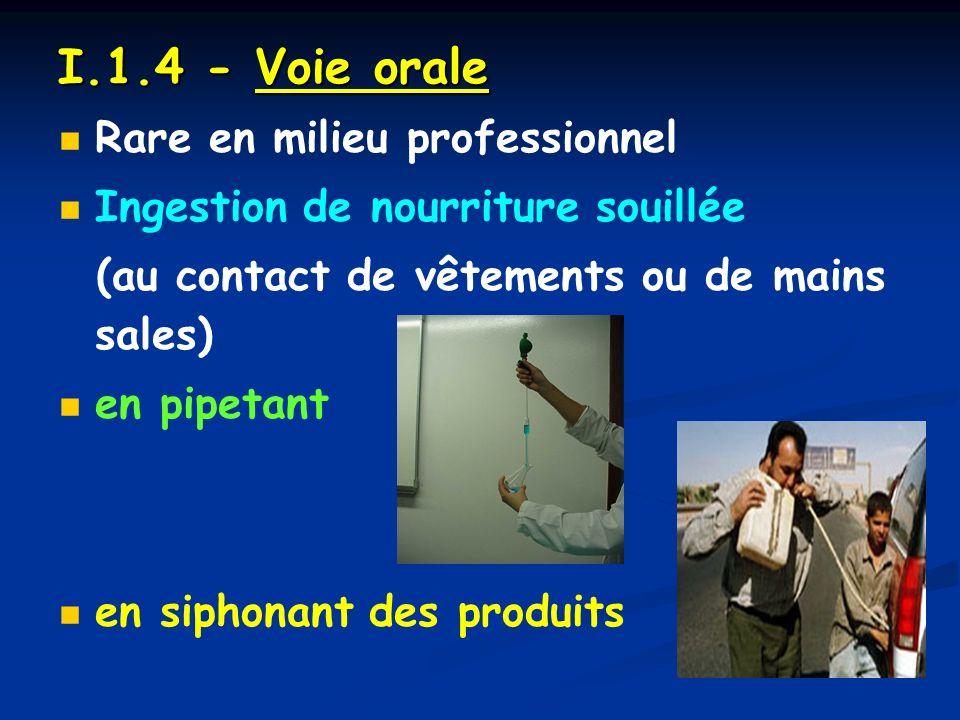 I.1.4 - Voie orale Rare en milieu professionnel