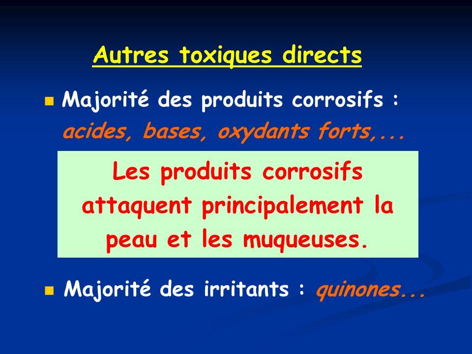 Autres toxiques directs