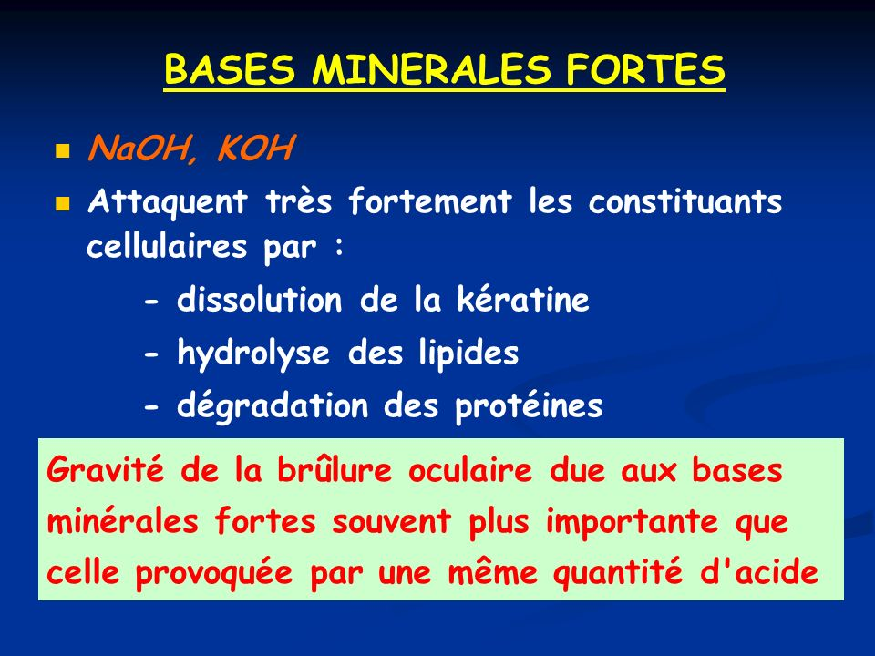 BASES MINERALES FORTES