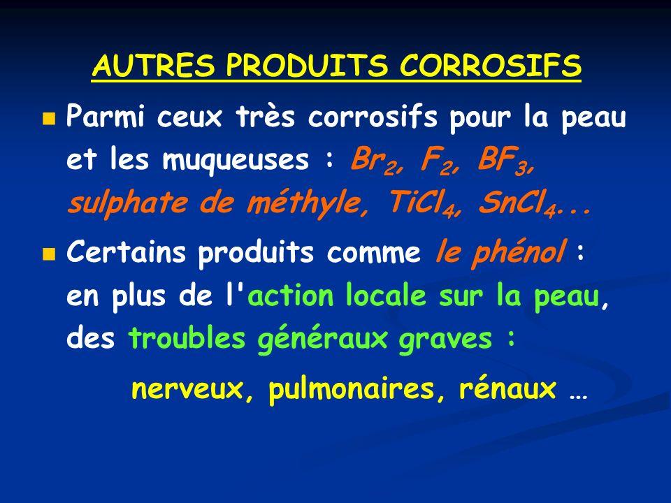 AUTRES PRODUITS CORROSIFS
