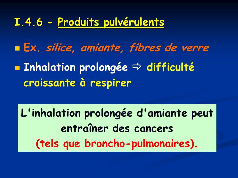 I.4.6 - Produits pulvérulents