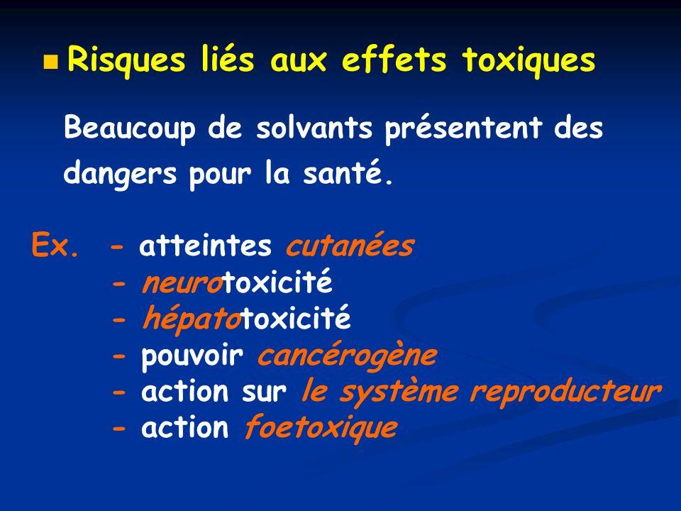 Risques liés aux effets toxiques