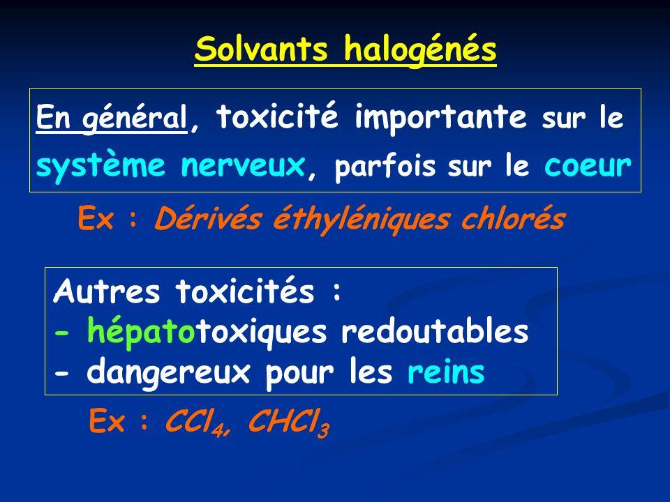 - hépatotoxiques redoutables - dangereux pour les reins