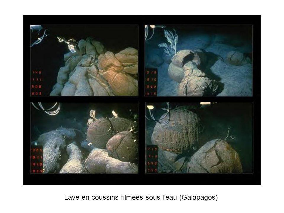 Lave en coussins filmées sous l'eau (Galapagos)