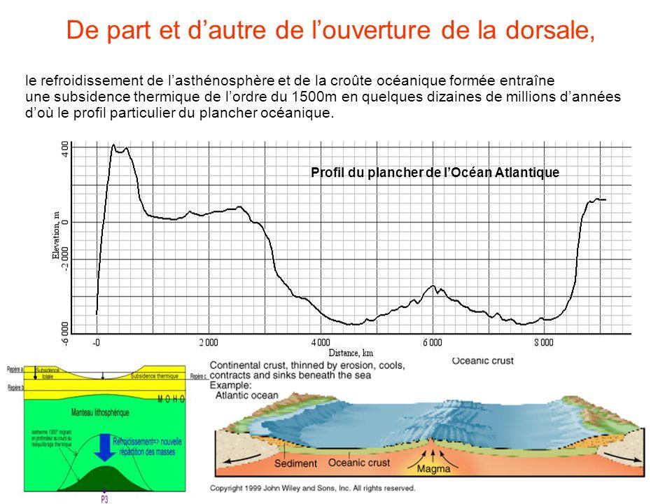 Profil du plancher de l'Océan Atlantique