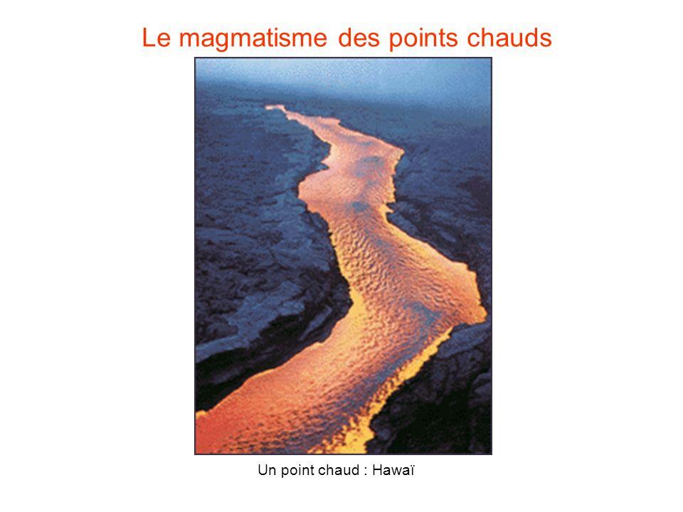 Le magmatisme des points chauds