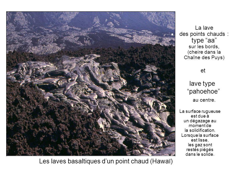 Les laves basaltiques d'un point chaud (Hawaï)