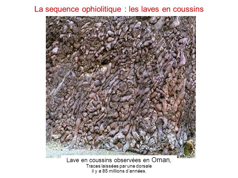La sequence ophiolitique : les laves en coussins