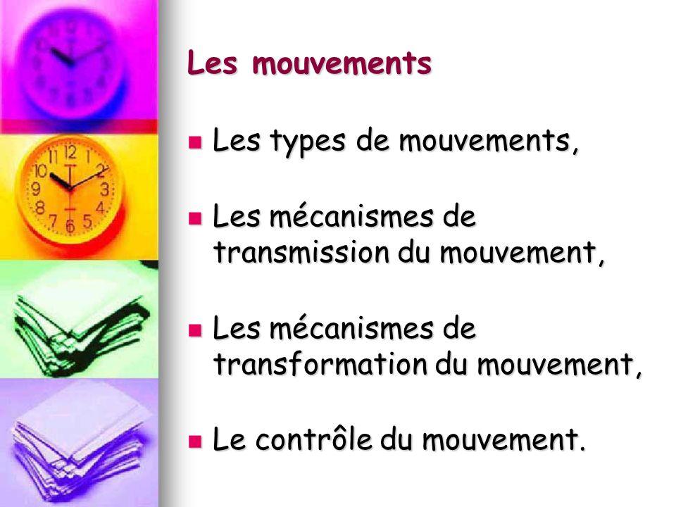 Les mouvements Les types de mouvements,
