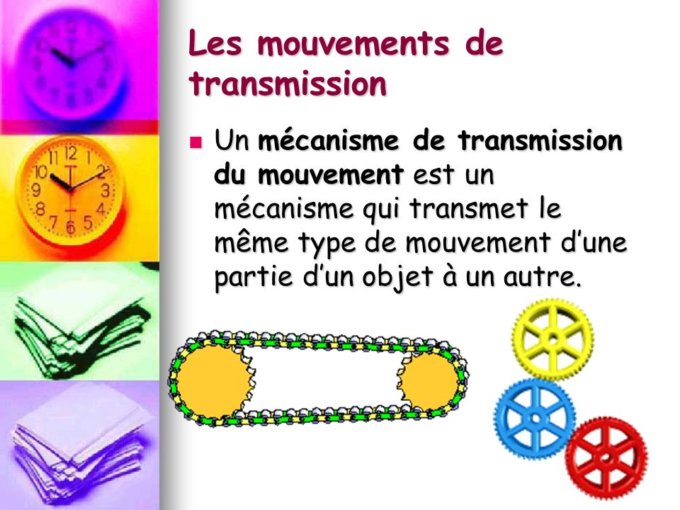 Les mouvements de transmission