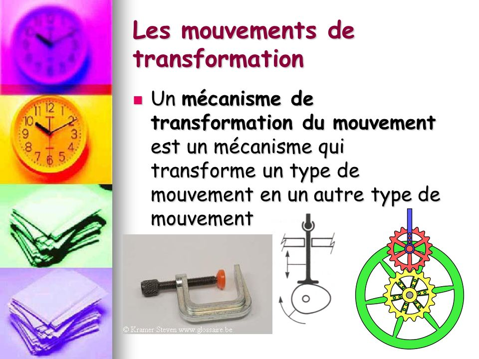 Les mouvements de transformation