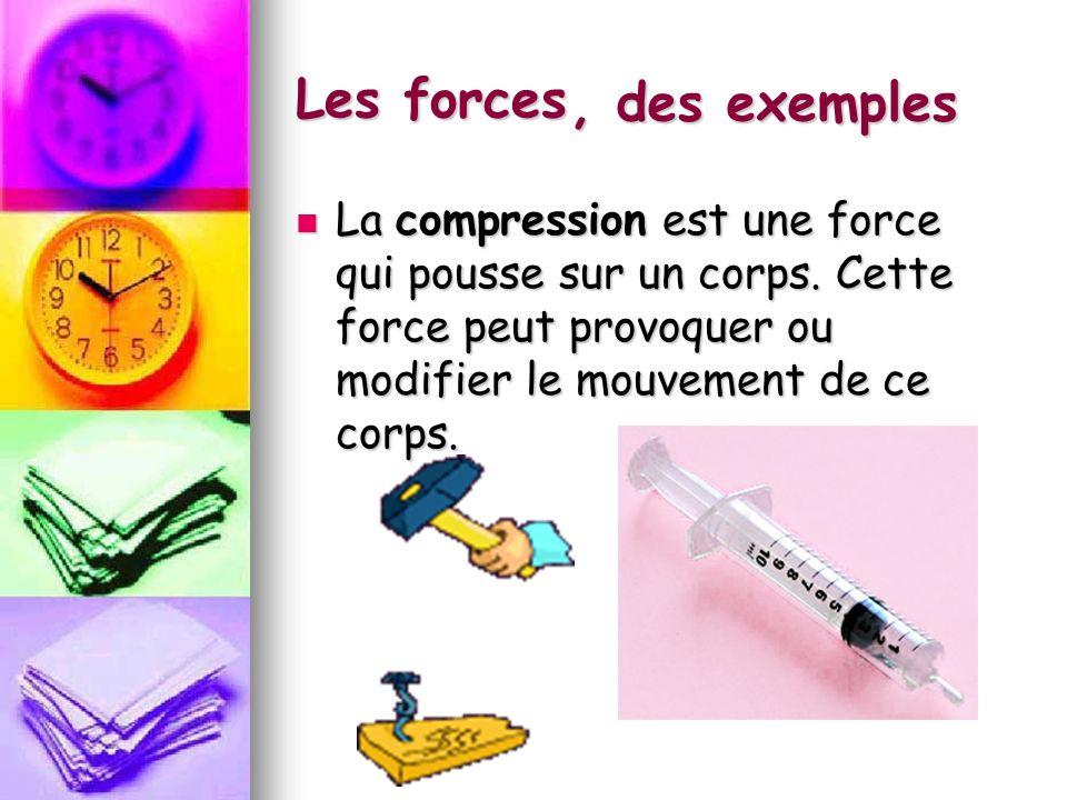Les forces , des exemples