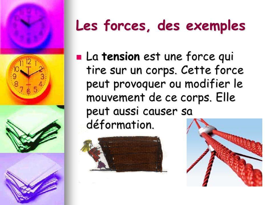Les forces, des exemples