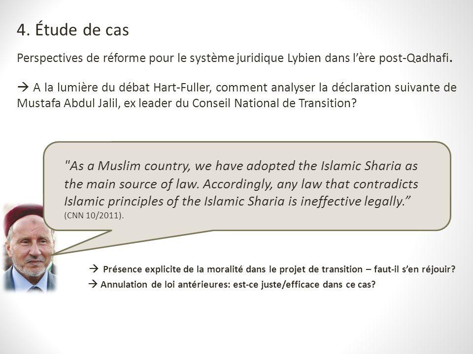 4. Étude de cas Perspectives de réforme pour le système juridique Lybien dans l'ère post-Qadhafi.