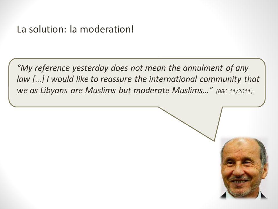 La solution: la moderation!