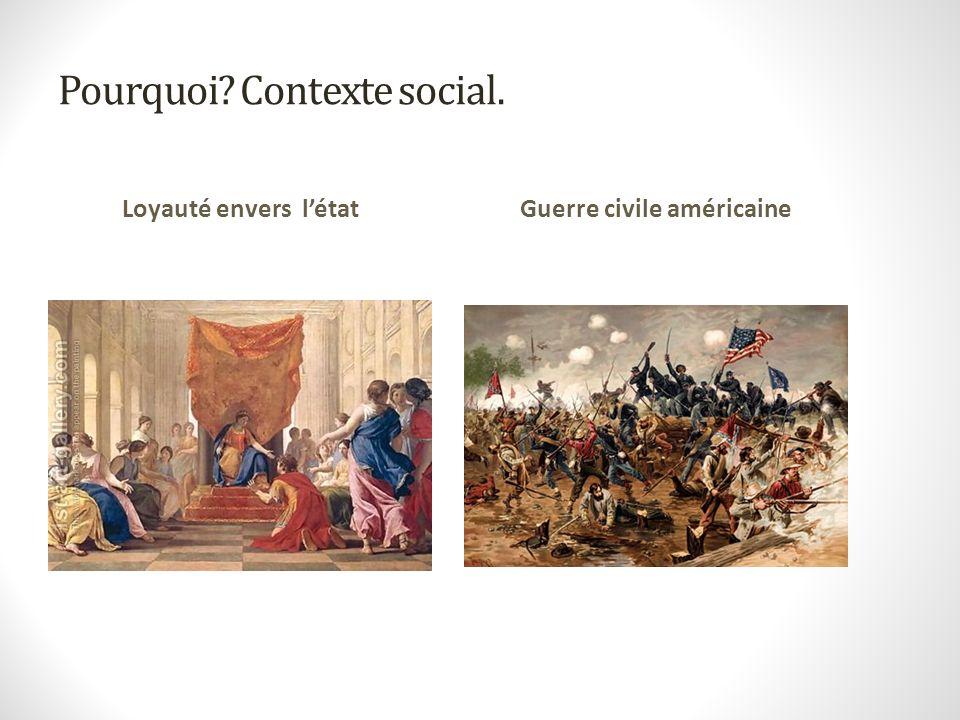 Pourquoi Contexte social.