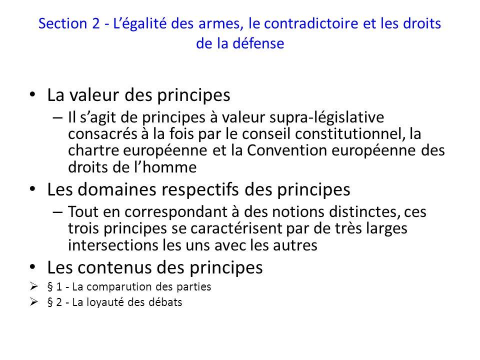 La valeur des principes