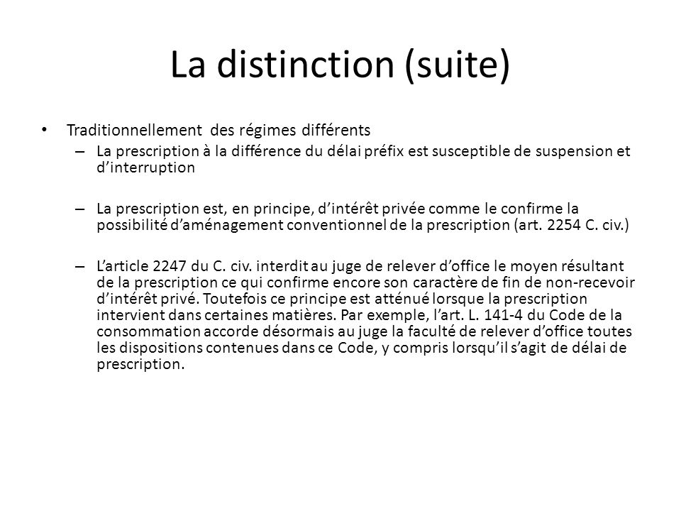 La distinction (suite)