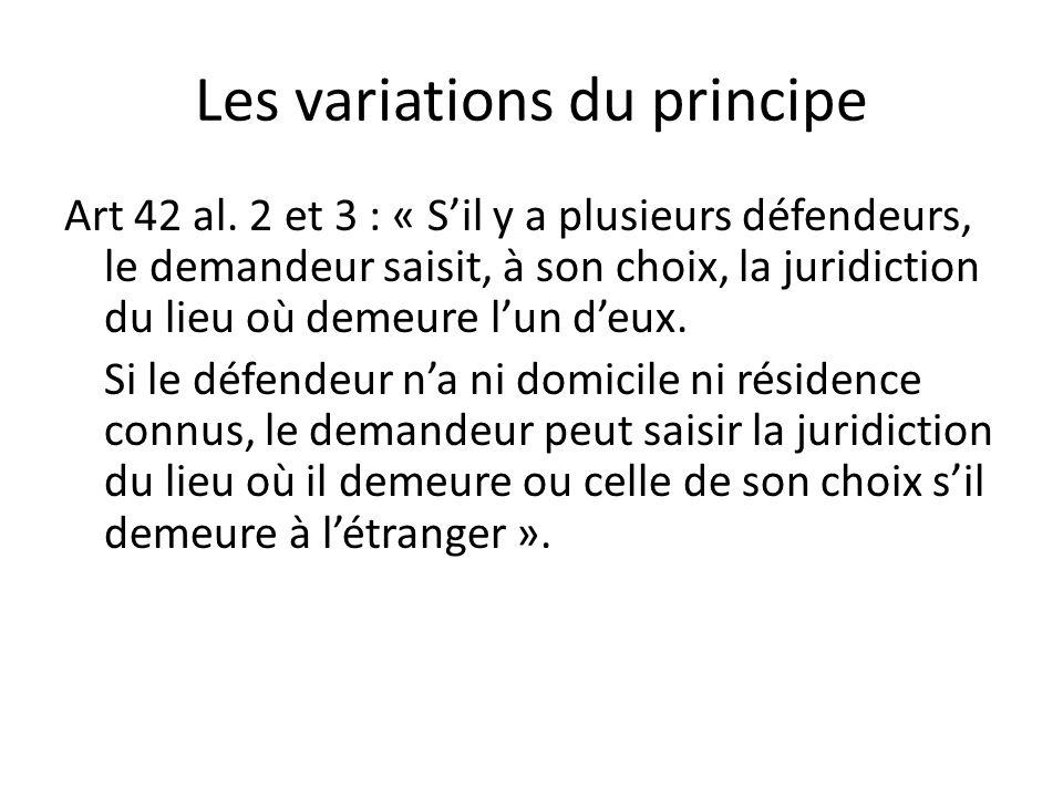 Les variations du principe