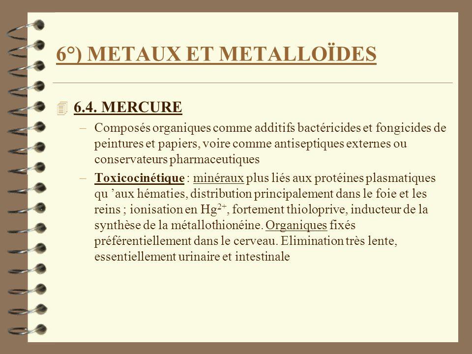 6°) METAUX ET METALLOÏDES