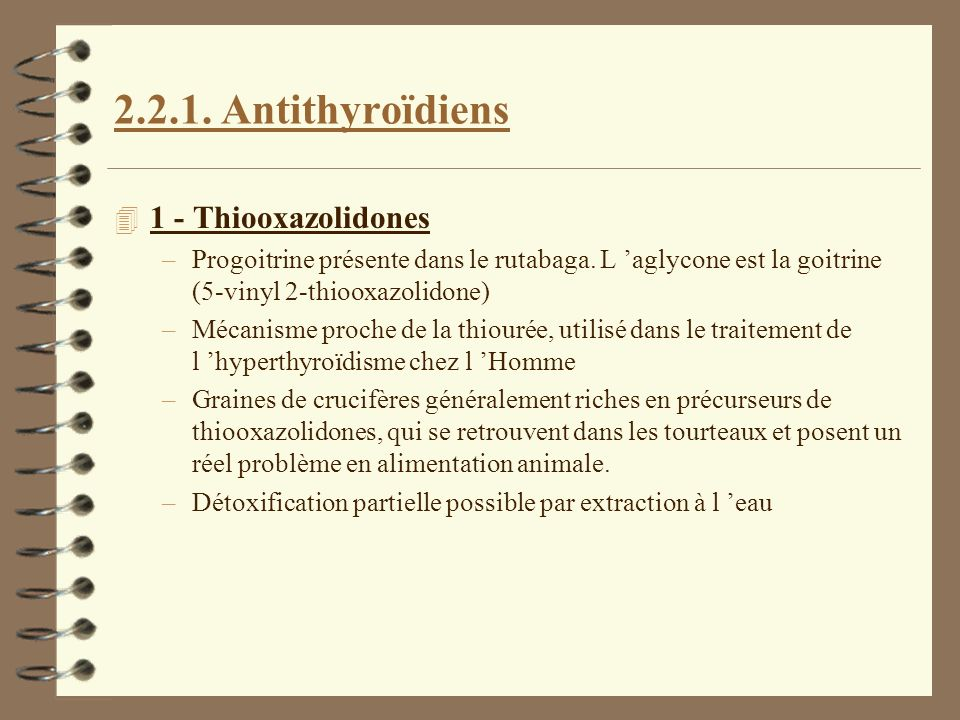 2.2.1. Antithyroïdiens 1 - Thiooxazolidones