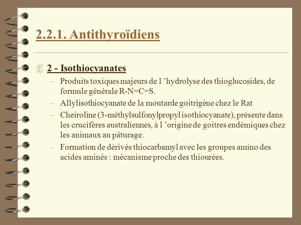 2.2.1. Antithyroïdiens 2 - Isothiocyanates