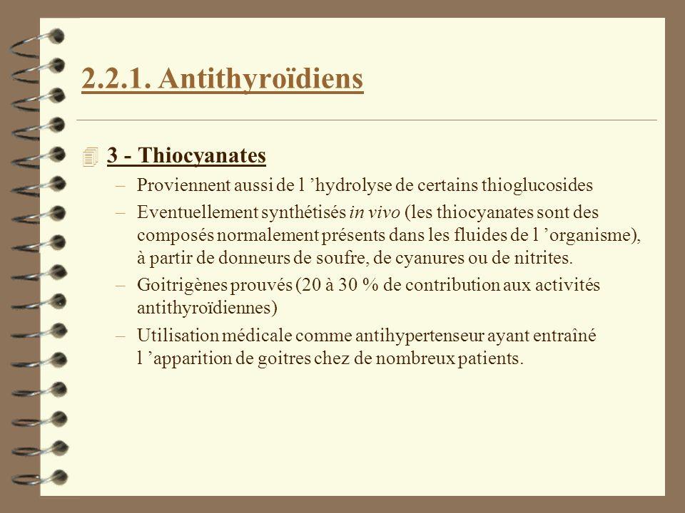2.2.1. Antithyroïdiens 3 - Thiocyanates