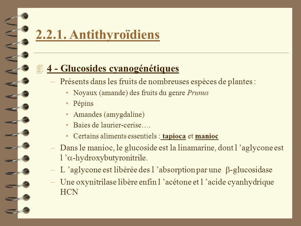 2.2.1. Antithyroïdiens 4 - Glucosides cyanogénétiques