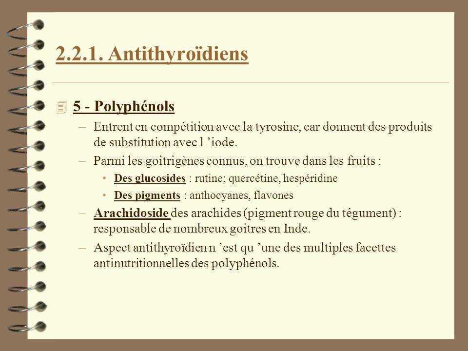 2.2.1. Antithyroïdiens 5 - Polyphénols