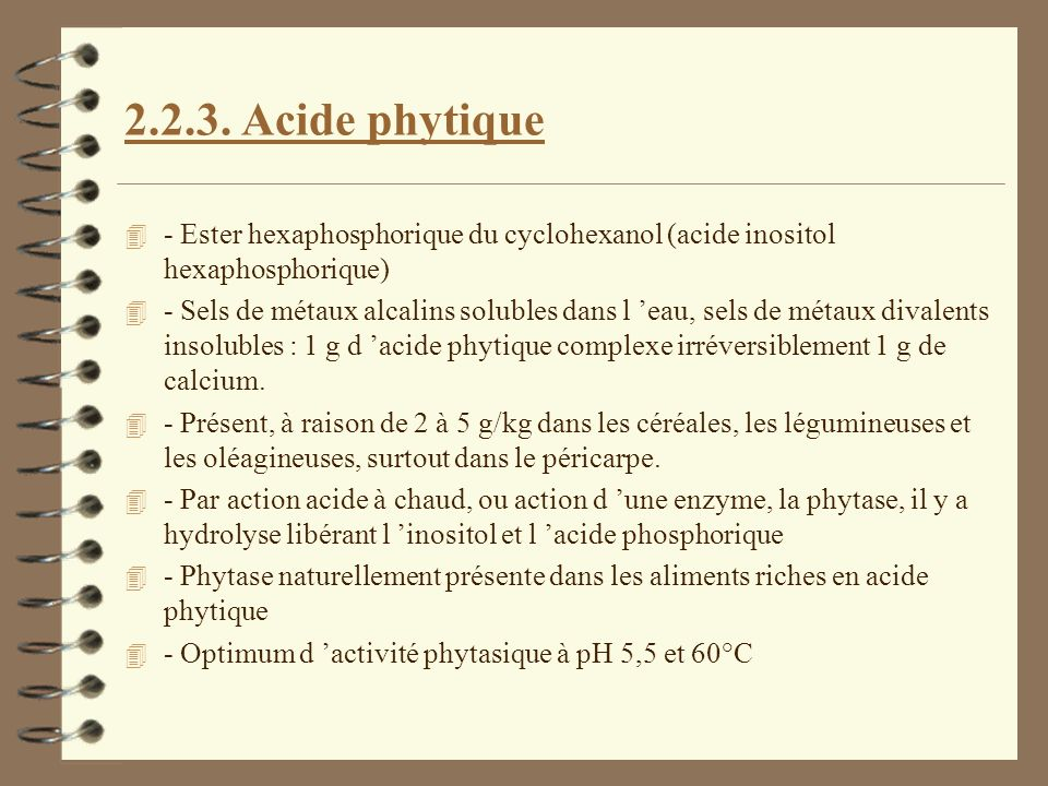 2.2.3. Acide phytique - Ester hexaphosphorique du cyclohexanol (acide inositol hexaphosphorique)