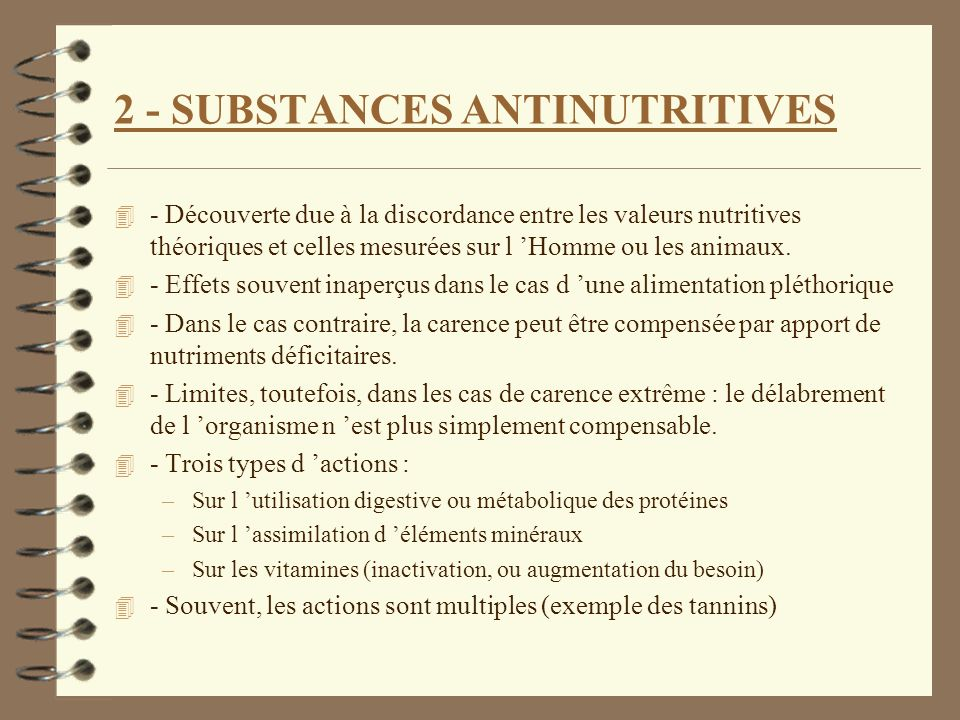 2 - SUBSTANCES ANTINUTRITIVES