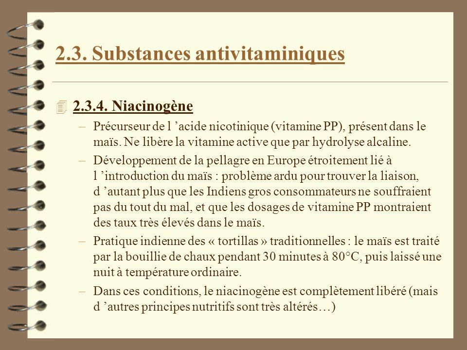 2.3. Substances antivitaminiques