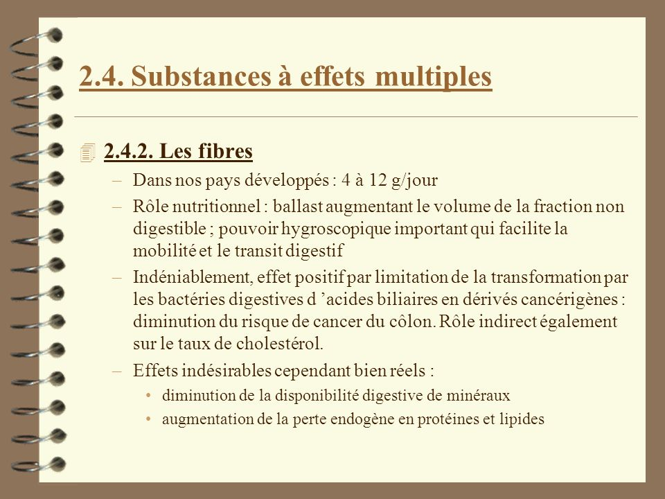 2.4. Substances à effets multiples