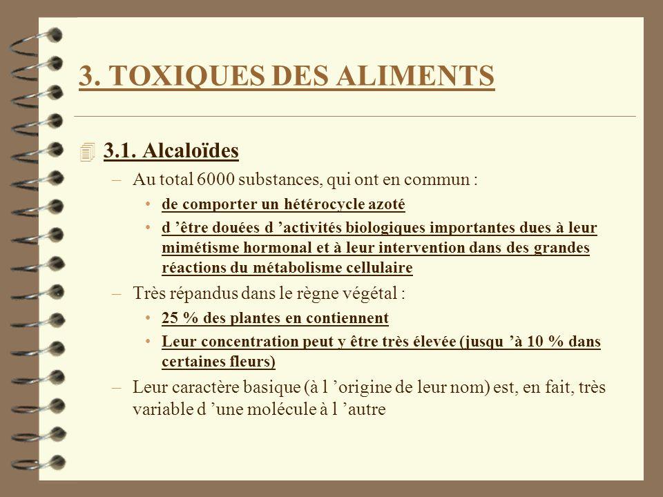 3. TOXIQUES DES ALIMENTS 3.1. Alcaloïdes