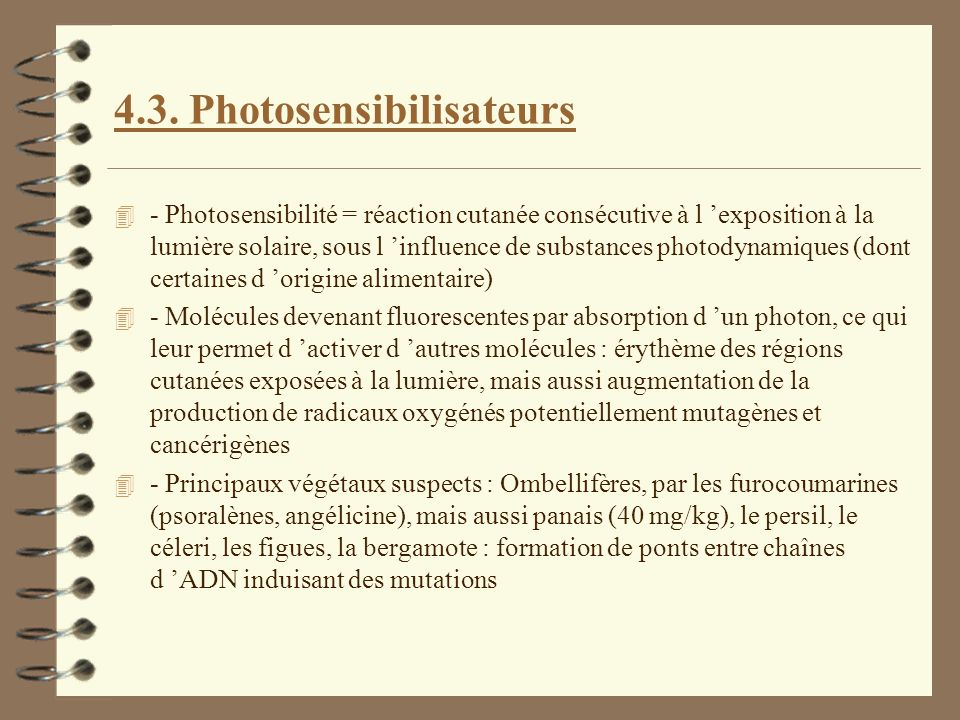 4.3. Photosensibilisateurs