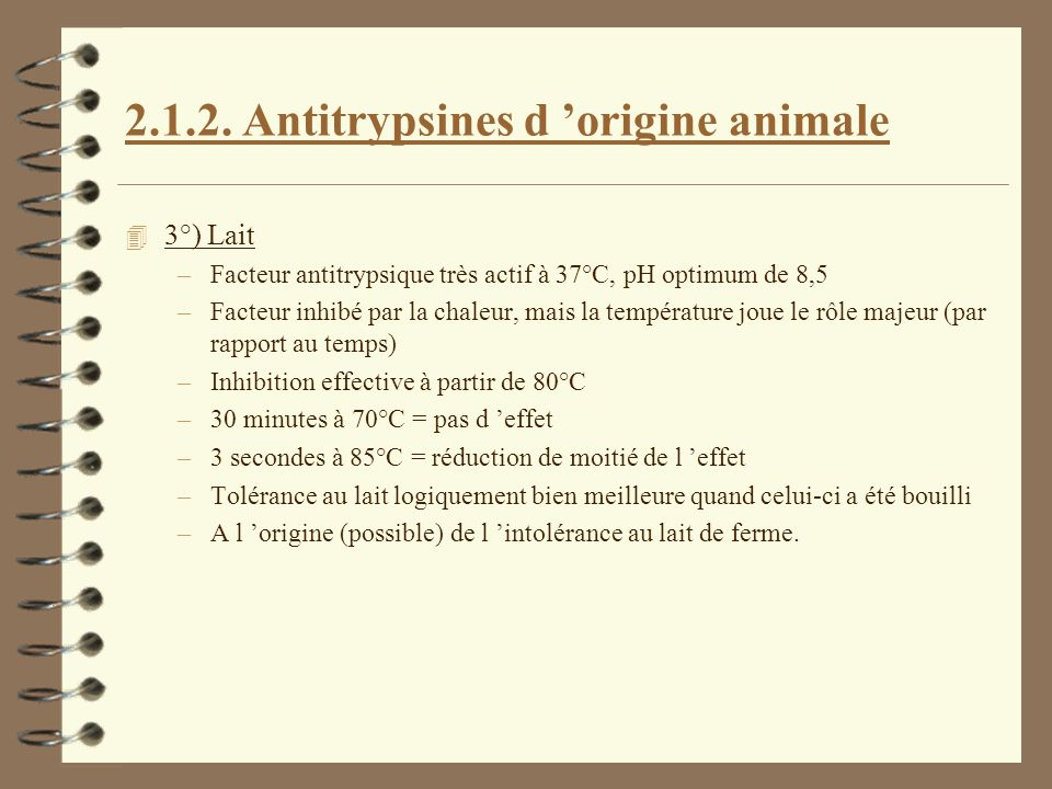 2.1.2. Antitrypsines d 'origine animale
