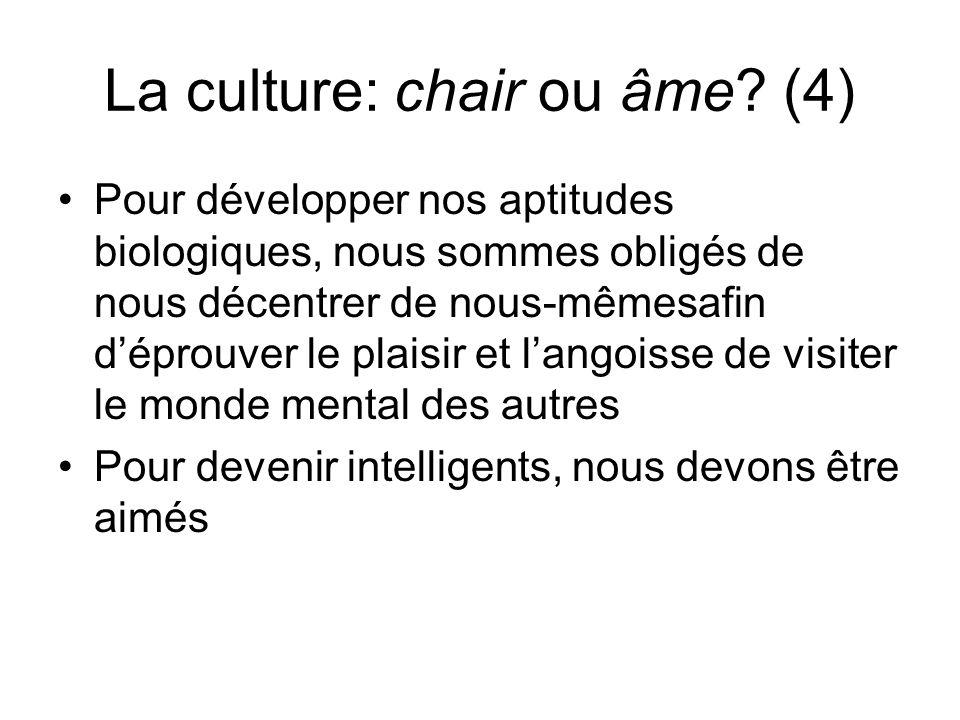 La culture: chair ou âme (4)
