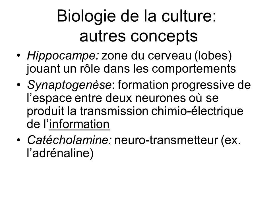 Biologie de la culture: autres concepts