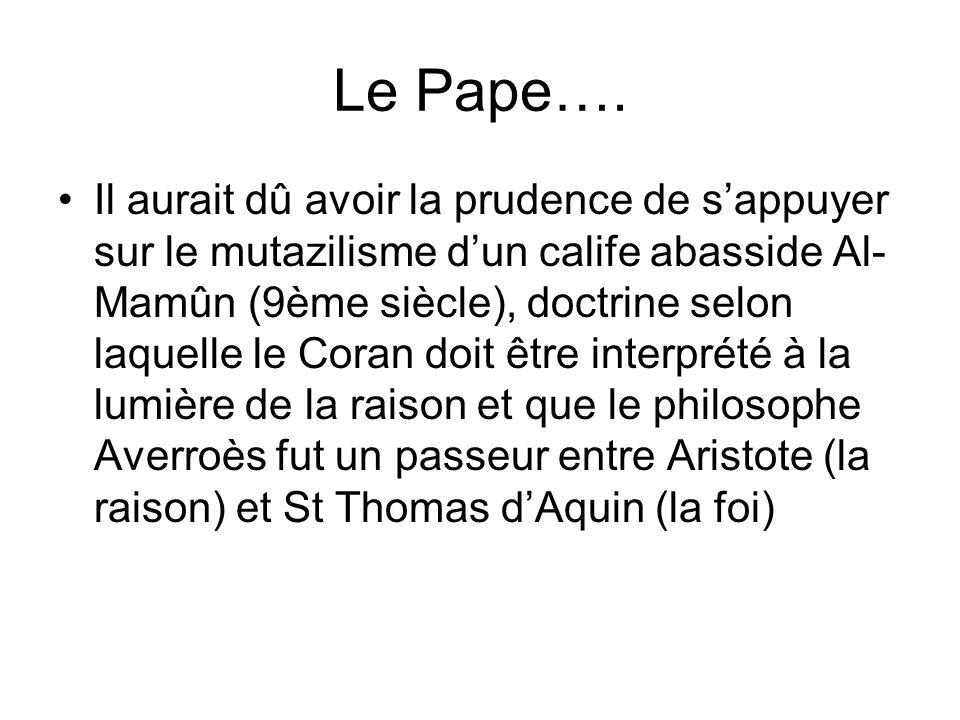 Le Pape….