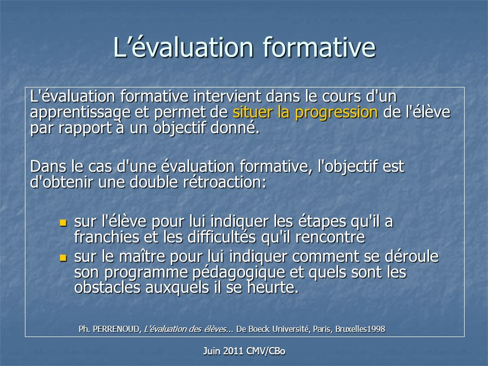 L'évaluation formative