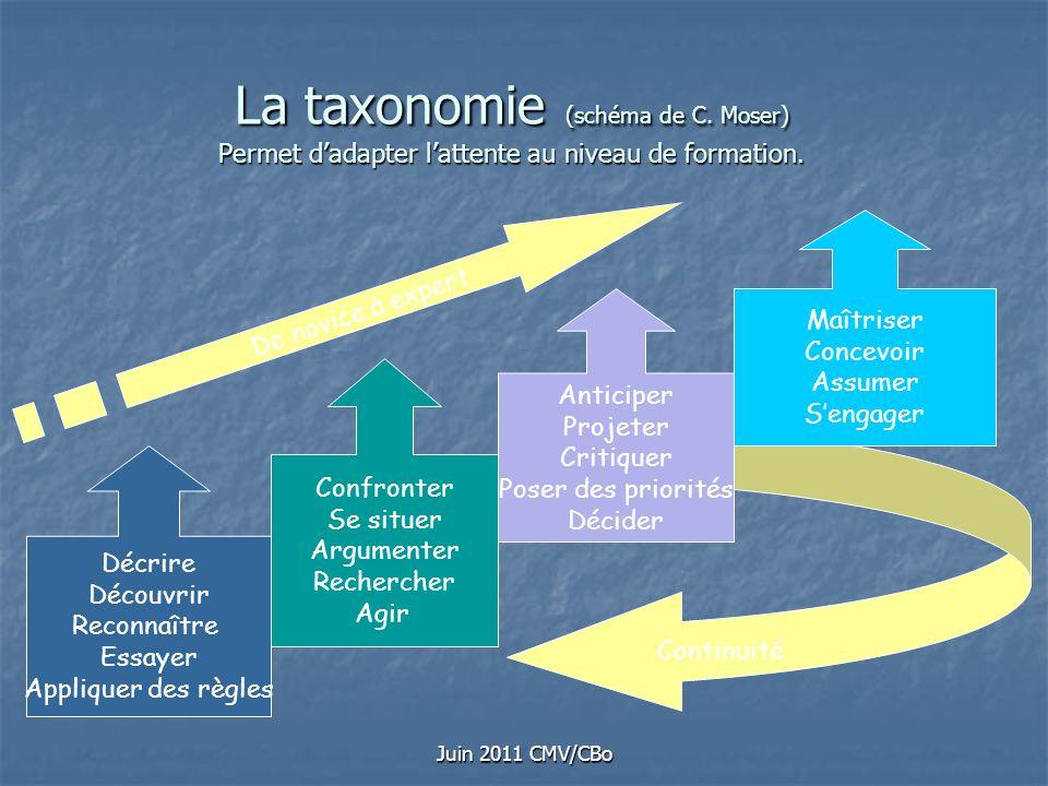 La taxonomie (schéma de C