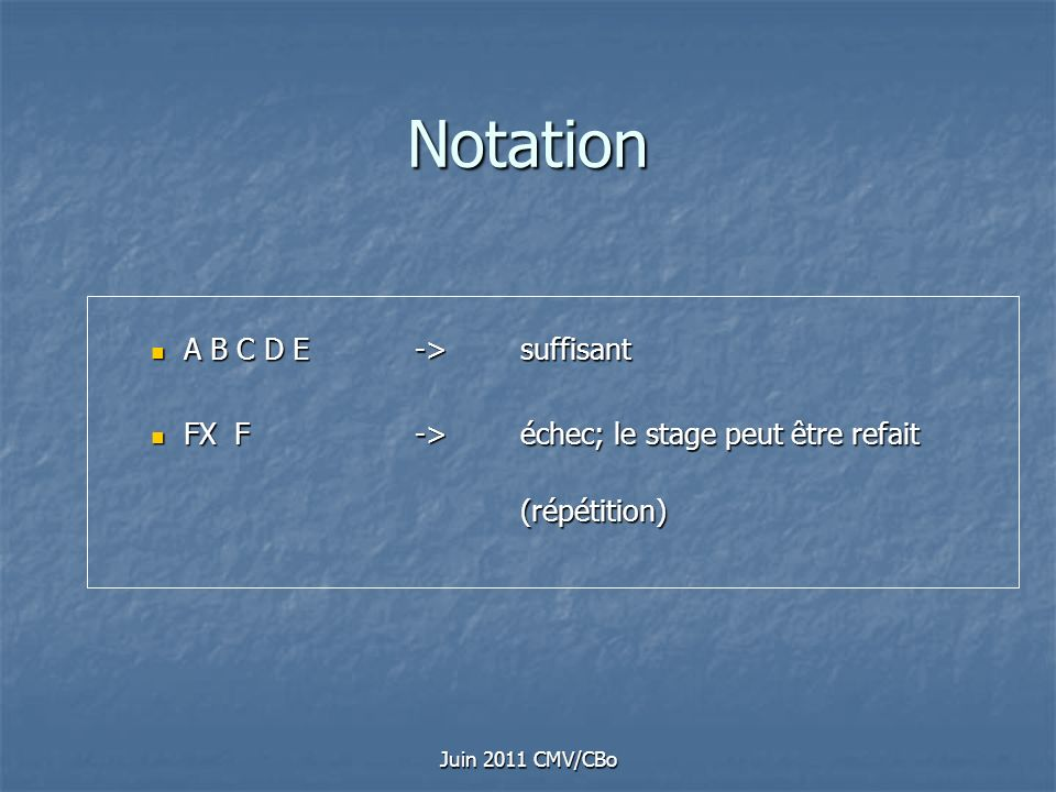 Notation A B C D E -> suffisant