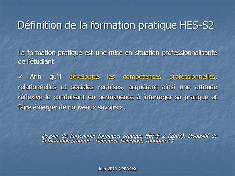 Définition de la formation pratique HES-S2