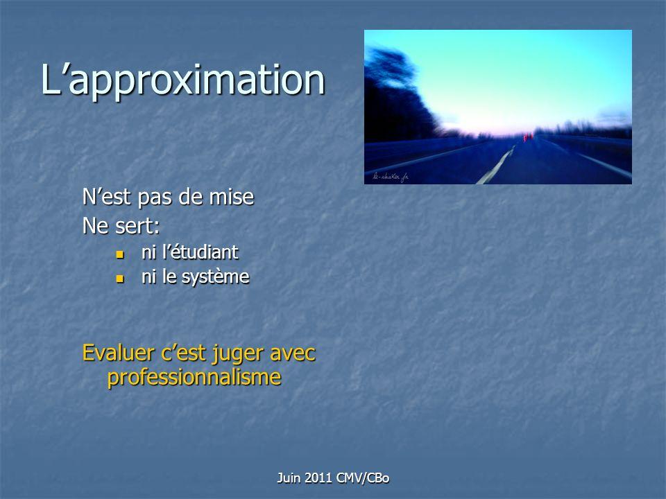 L'approximation N'est pas de mise Ne sert: