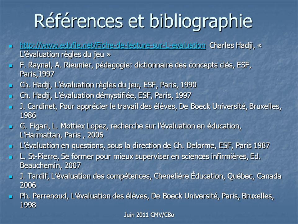 Références et bibliographie