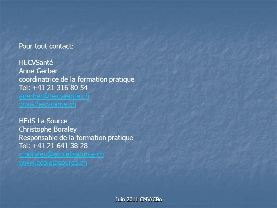 coordinatrice de la formation pratique Tel: +41 21 316 80 54