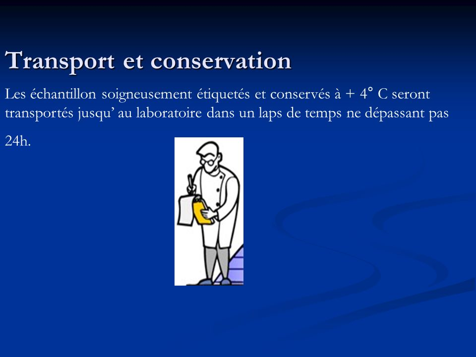 Transport et conservation