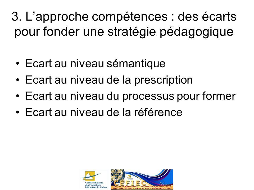 3. L'approche compétences : des écarts pour fonder une stratégie pédagogique